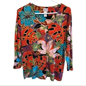 Chico's Long Sleeve Pullover Blouse